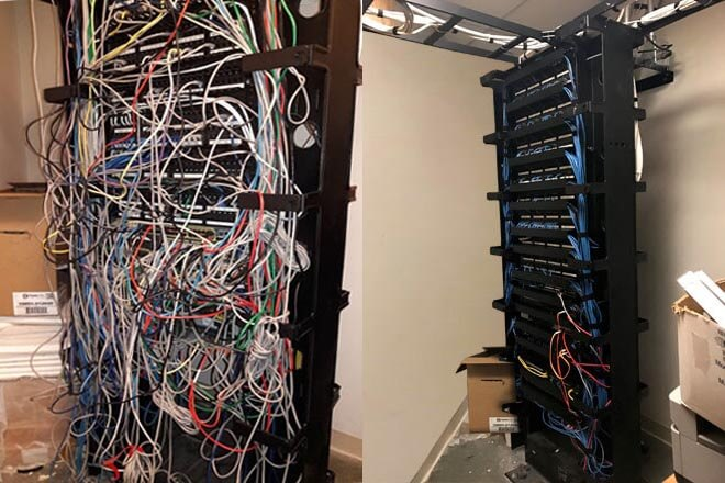 Fabulous Network Rack And It Room Cleanup Wiring 101 Mecadwellnesstrialsorg