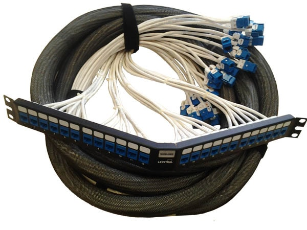 preterminated angled patch panel