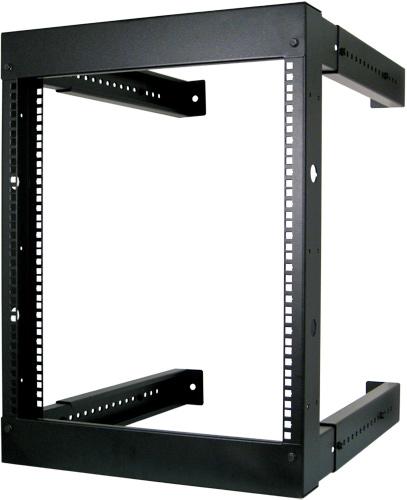 12U Vertical Cable Wall Mount Adjustable Fixed Open Rack