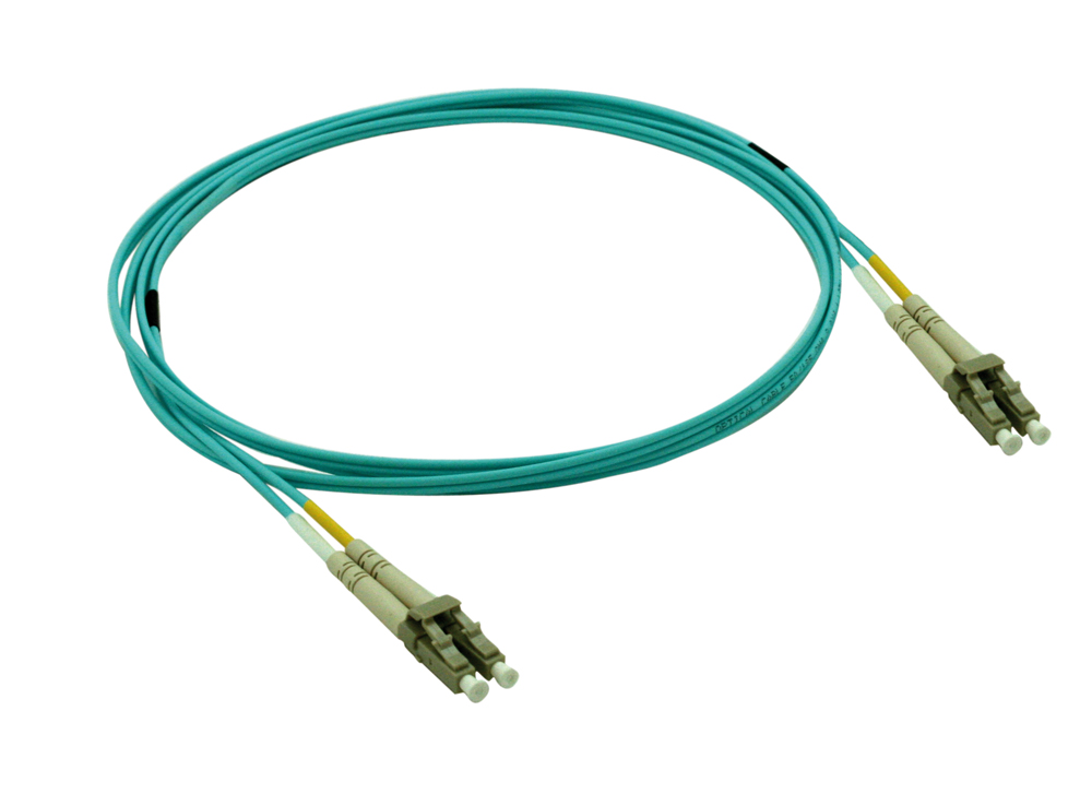 OM3 LC multimode fiber optic cable